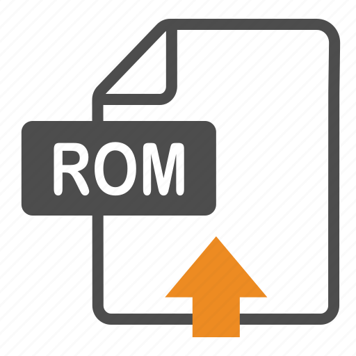 document, extension, file, format, rom, upload icon