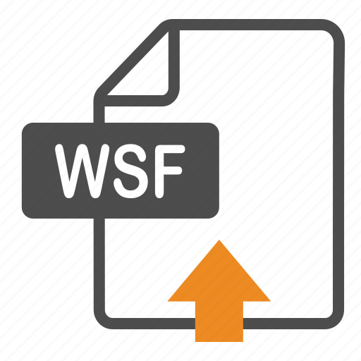 document, extension, file, format, upload, wsf icon