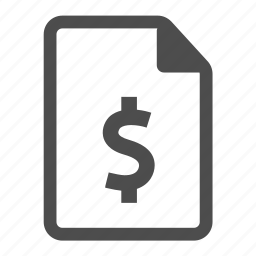 business, currency, document, dollar, finance, financial, money icon