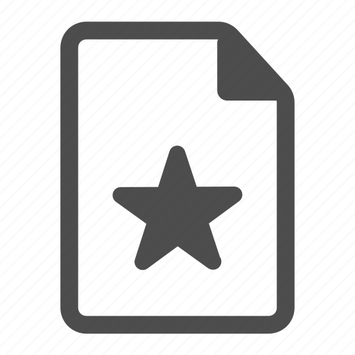 bookmark, document, favorite, page, paper, rating, star icon
