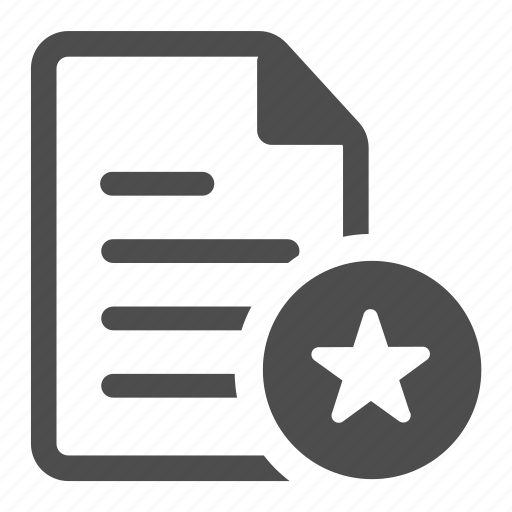 bookmark, document, favorite, file, rating, star, text icon
