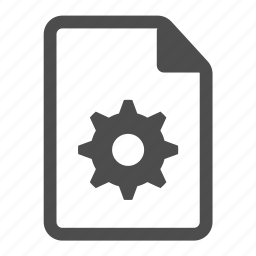 document, file, gear, gog, mechanical, preferences, settings icon