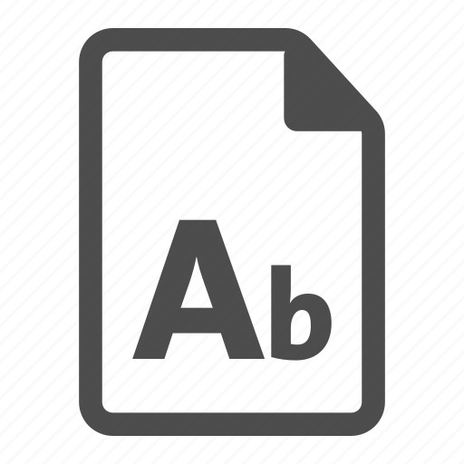 document, file, fonts, letter, text, white icon