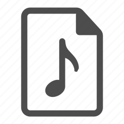 document, file, mp3, music, note, page, paper icon