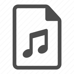 audio, mp3, music, note, notes, page, sound icon