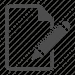 contract, document, edit, paper, pen, pencil, write icon