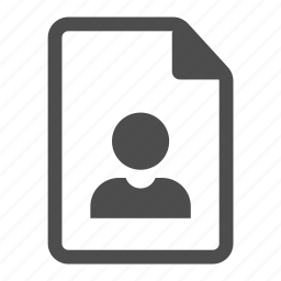 document, file, human, personal, profile, user icon