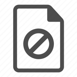 closed, document, file, forbidden, page, paper, restricted icon