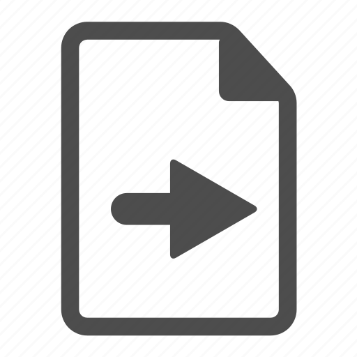 arrow, document, file, page, paper, right, sheet icon