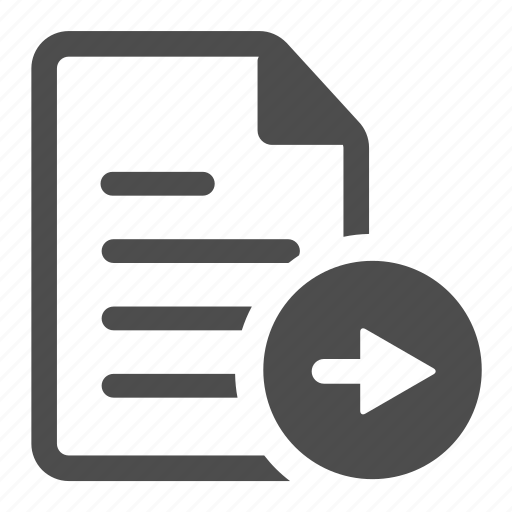 arrow, document, file, page, paper, right, text icon
