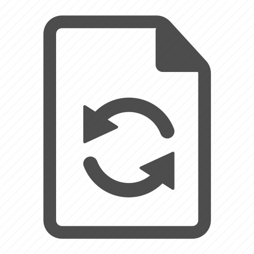 arrow, arrows, document, file, paper, sheet, update icon