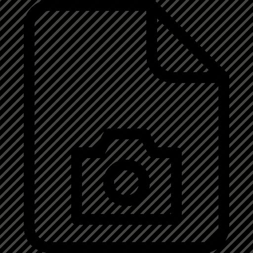 camera, document, document file, document record, documentation, paper sheet, record files icon icon