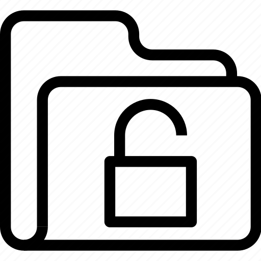 catalog, directory, document case, folder, index, jacket, portfolio, roll, schedule, sked, unlock, warning icon icon