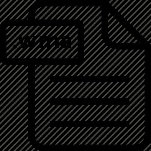document, document file, document record, documentation, paper sheet, record files icon, wma icon