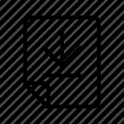 bottom, down, files icon