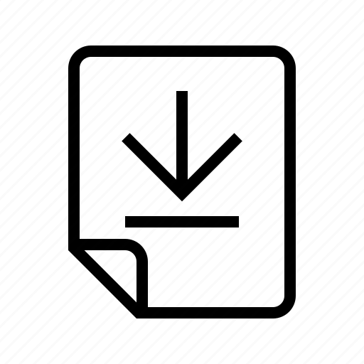 bottom, down, files icon