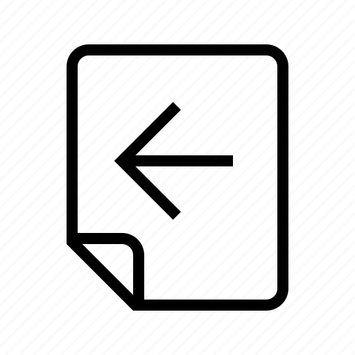 back, files, left, previous icon