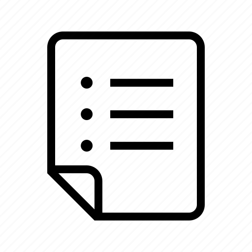 files, items, list icon