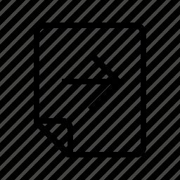 files, forward, next, right icon
