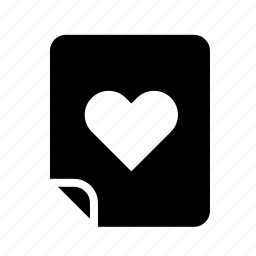 files, heart, like, love icon