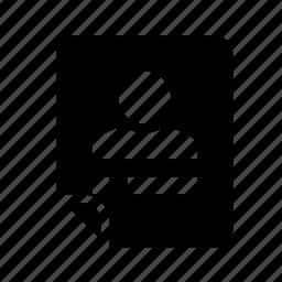 files, profile, user icon
