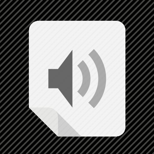 audio, files, music, speaker icon
