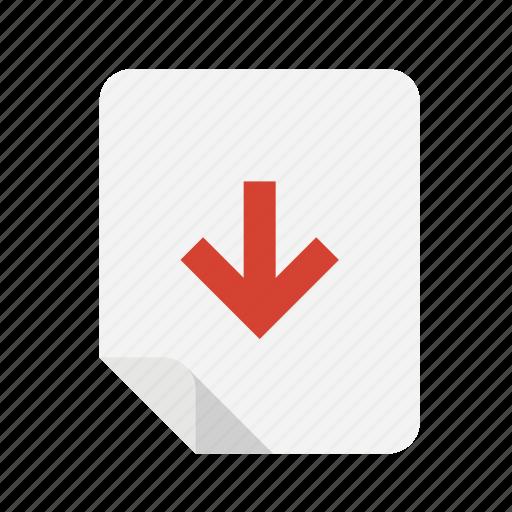 down, files icon