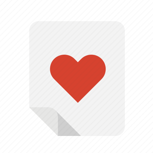 files, heart, like, love icon