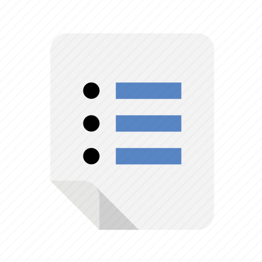 files, list icon