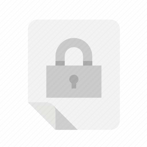files, lock, protected, secure icon