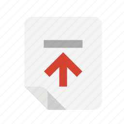 files, top, upload icon