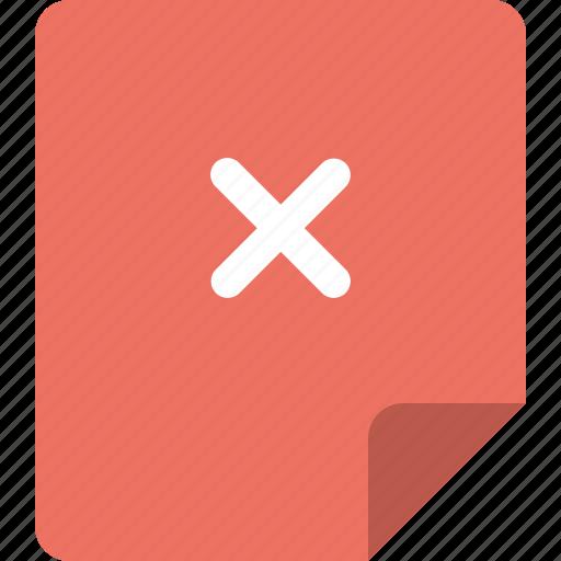 cancel, document, error, file, page icon