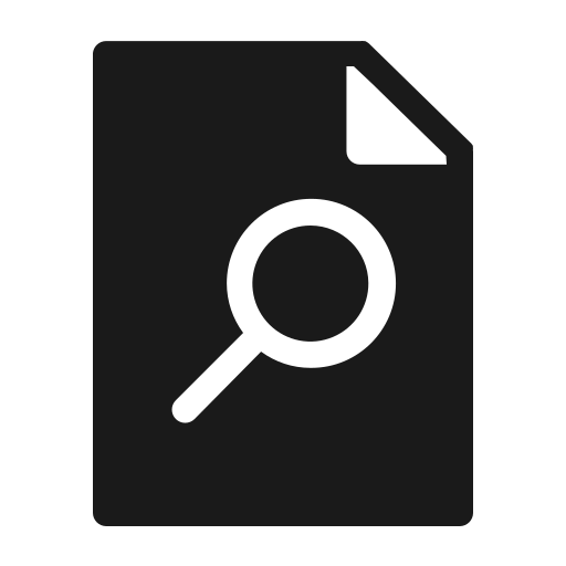 document, extension, magnifier, page, paper, search, zoom icon