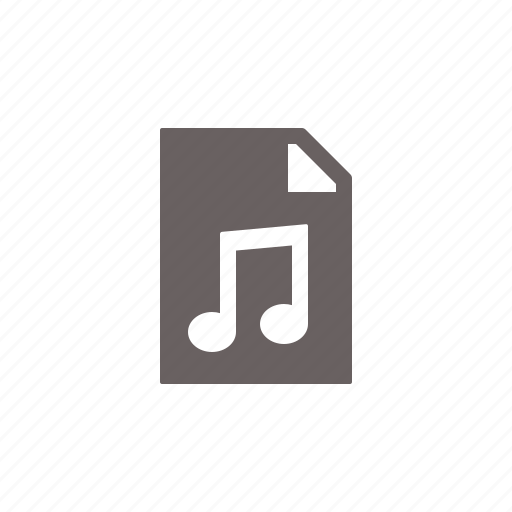 audio, file, type icon