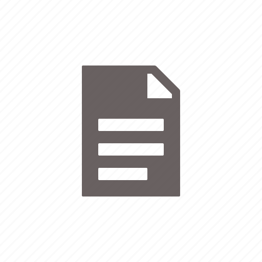 document, file, type icon