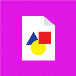 extension, file, filetype, shape icon