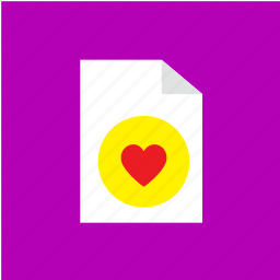 extension, file, filetype, love icon