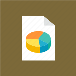 chart, extension, file, filetype, format icon