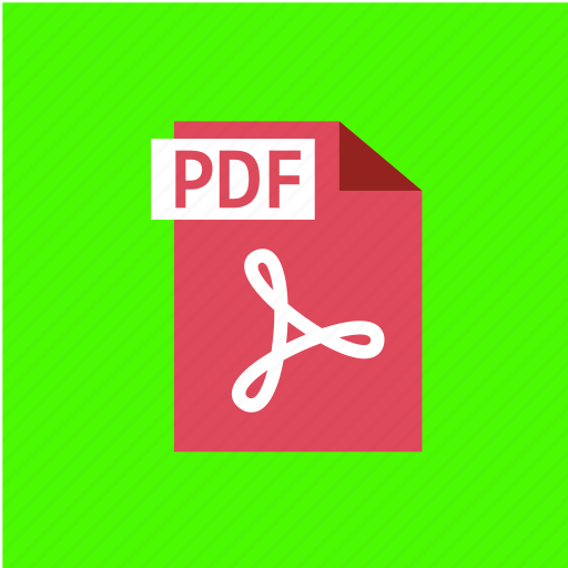 extension, file, filetype, format, pdf icon