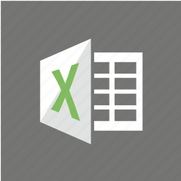 excel, extension, filetype, format icon