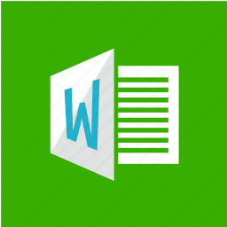 extension, filetype, format, word icon