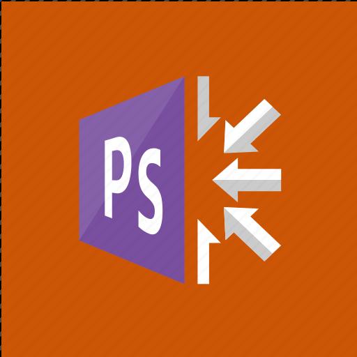 application, arrows, filetype, photoshop icon