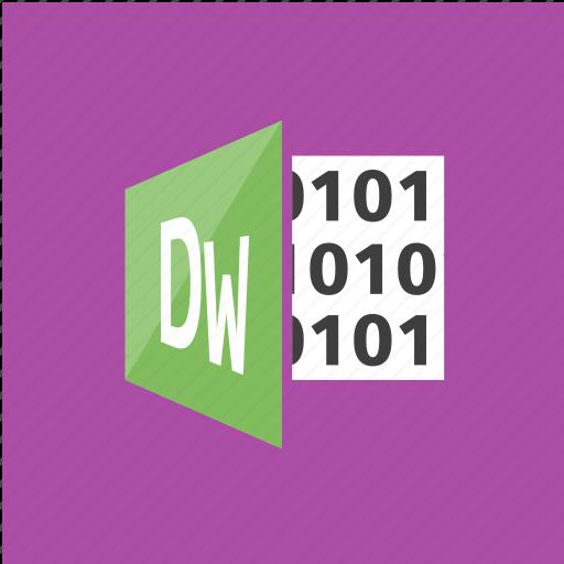 application, dream weaver, filetype, software icon