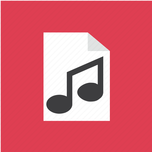 audio, extension, filetype, music icon