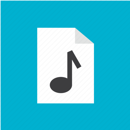 audio, extension, filetype, format, music icon