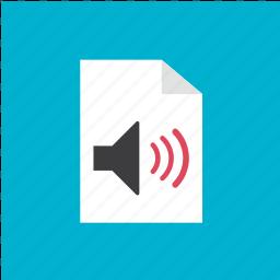 audio, filetype, format, sound icon