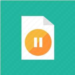 extension, filetype, format, pause icon