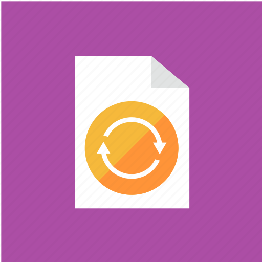 extension, filetype, format, repeat icon