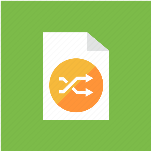 extension, filetype, format, shuffle icon