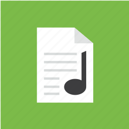 audio, extension, filetype, format, list, music icon